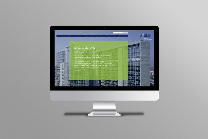 a°blue | Website