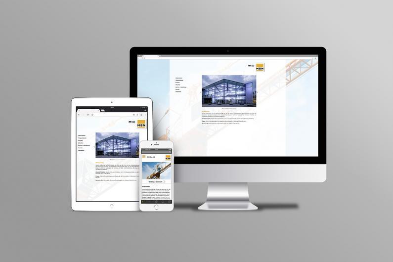 MBN Bau AG | Website